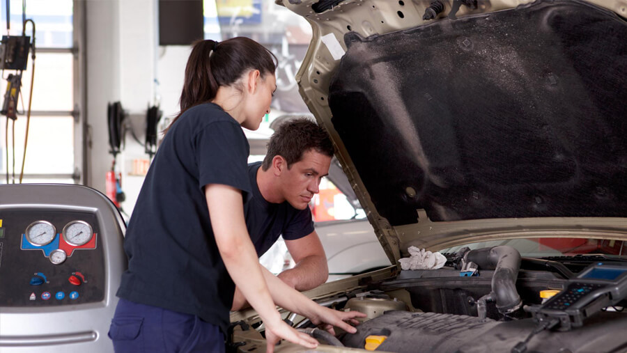 This is a picture of a clutch repair.